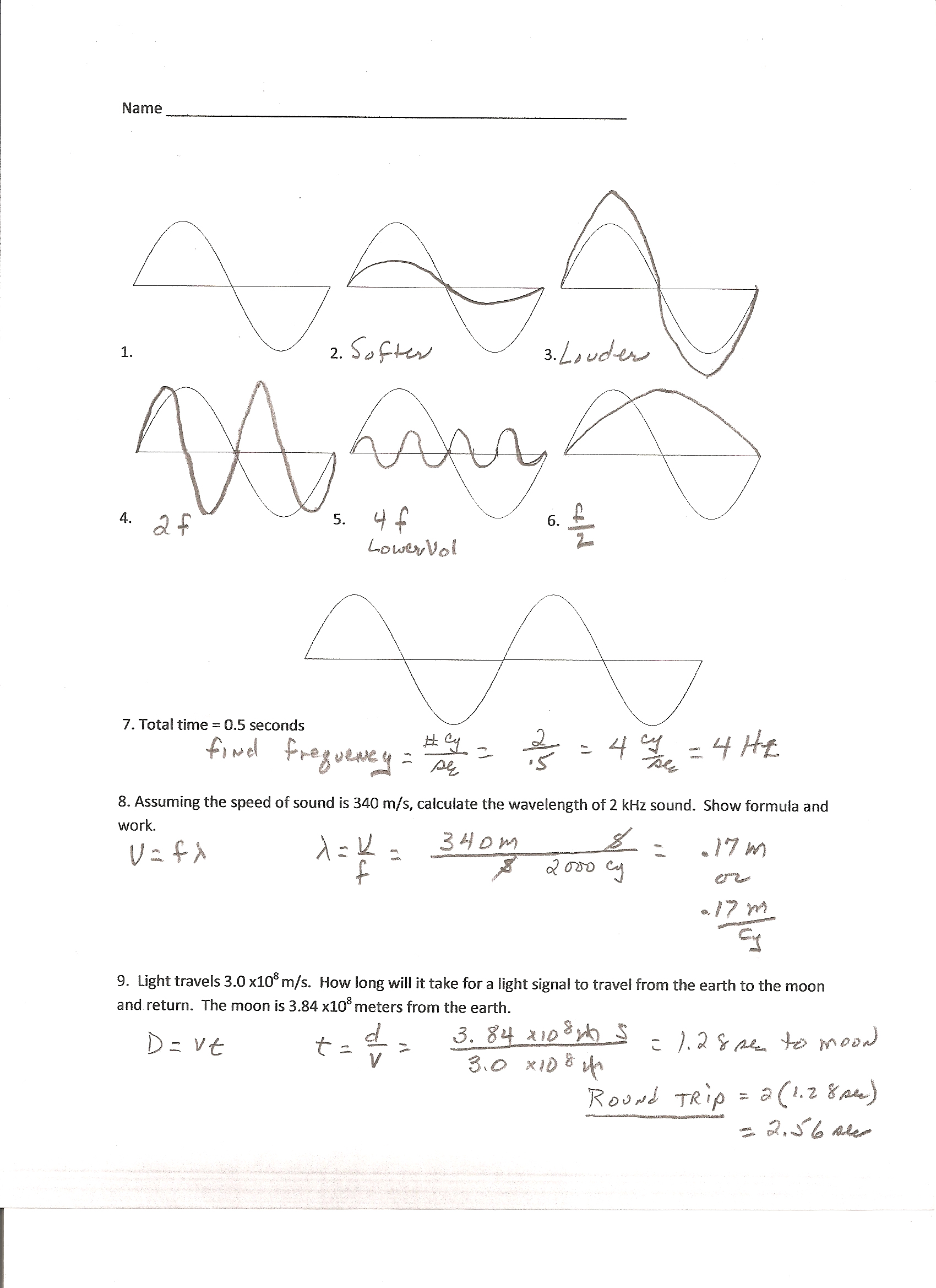 Printables Physics Worksheet wave speed worksheet abitlikethis physics infographic of waves iona